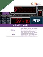 Taller Módulo 1 Matemáticas 8° Notación científica