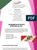 INTRUMENTOS DE POLITICA MONETARIA USADOS POR EL BCRP