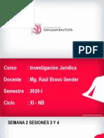 Investigación Jurídica Semana 2 Sesiones 3 Y 4