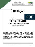 Edital do Convite nº 004 2020 - Almoxarifado - SEAGRI ASSINADO
