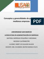 conceptos y generalidades de pequeñas y medianas empresas.pdf