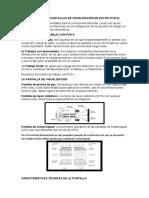 TRABAJO CON PANTALLAS DE VISUALIZACIÓN DE DATOS