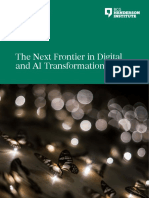 Next frontier in digital and AI transformations