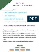 ESTRUCTURA DE LA ORGANIZACIÓN. Departamentalización