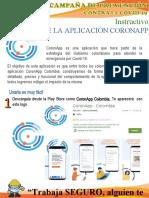 Instructivo CoronApp - COVID-19