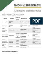 Ficha de Programación de Las Sesiones Formativas i