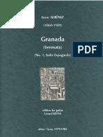 ALBÉNIZ, Isaac • Granada  (edited by Gérard Reyne) (guitar music score)