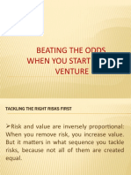 2.Beating the Odds when you launch a new venture