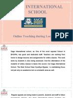 Online Teaching During Lockdown - Top Schools in Bhopal