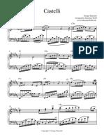 Castelli(sheet music piano)