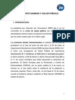 Conclusiones del PP sobre SANIDAD Y SALUD PÚBLICA
