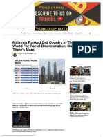 Malaysia Ranked 2nd Country In The World For Racial Discrimination, But There's More! - WORLD OF BUZZ