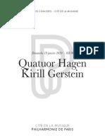 Quatuor Hagen Kirill Gerstein