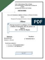 Entrepreneuriat et politiques d'accès à la création d'entreprise chez les jeunes en Algérie. (1).pdf