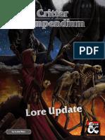 Critter Compendium (Lore Update)