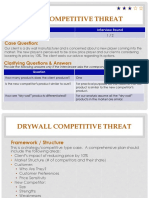 1A. Dry Wall Competitive threat
