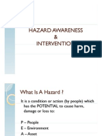 Hazard Awareness & Intervention