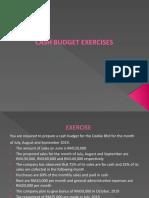 CASH BUDGET EXERCISES (1)