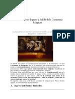El Protocolo de Ingreso de la Ceremonia Religiosa 2