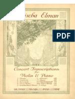 ALBÉNIZ, Isaac • Tango (No. 2, España, op. 165) [Transcription by] Mischa Elman (1917) (violin & piano score)