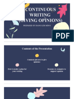 CONTINUOUS WRITING GIVING OPINION