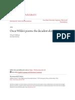 Oscar Wildes poems- the decadent element