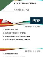 1.1 Interés simple