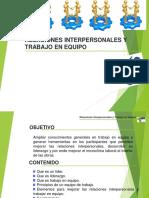 RELACIONES INTERPERSONALES Y TRABAJO EN EQUIPO