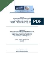 Proyecto de Capacitación Docente - FATLA - PACIE   FASE INVESTIGACION v 2.0