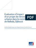 Evaluation Dimpact Dun Projet de Renovat