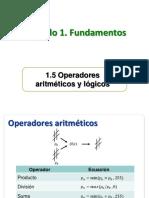 Operadores aritmeticos y logicos