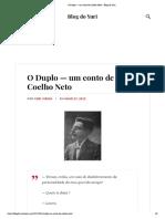 O Duplo — um conto de Coelho Neto – Blog do Yuri