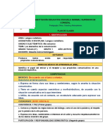 CASTELLANO PLAN DE CLASE