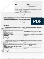 Worksheet acceleration