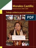 Fabiola Morales Castillo - Labor Parlamentaria 2008-2009