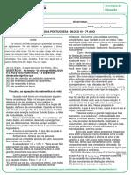 CREMILDA - ATIVIDADE REMOTA - PORTUGUÊS - BLOCO III - 7º ANO-convertido