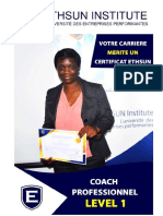 TDR CERTIFICAT COACH PROFESSIONNEL - LEVEL 1
