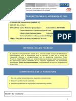 DISEÑO METODOLÓGICO PARA EL APRENDIZAJE - UNIDAD I - DMpA 01