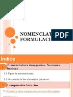 NOMENCLATURA Y FORMULACIÓN PDF
