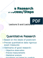 Lecture 5 & 6 the Research Process