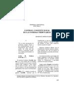 control constitucional en las normas tributarias
