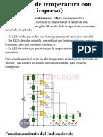 Indicador de temperatura con LM324 (C. impreso) - Electrónica Unicrom