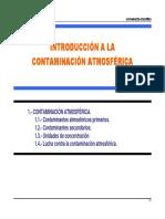 TEMA - INTRODUCCION A LA CONTAMINACION ATMOSFERICA