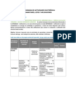 CRONOGRAMA DE ACTIVIDADES ELECTRÓNICA