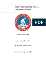 Coronavirus o (Covid-19) en Guatemala Año 2020