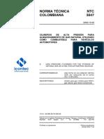 Norma Técnica Colombiana 3847 (resumen) no completa