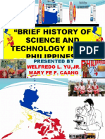 BRIEF HISTORY OF SCIENCE AND TECHNOLOGY BY WELFREDO L. YU JR AND MARY FE F. CAANG.pptx