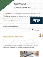 CLASE FUNDAMENTOS DE COSTOS-2018-1 - PARTE 1