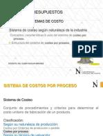 CLASE SISTEMAS DE COSTOS 2018-1- PROCESO