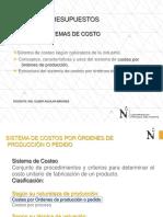 CLASE SISTEMAS DE COSTOS 2018-1-ORDENES DE PRODUCCION